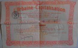 L´URBAINE CAPITALISATION 1930 - Banque & Assurance
