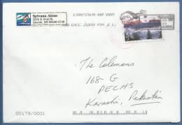USA, 2008, Special Post Marking, Letters To Santa, Postal Stationary, Cover Used, Lincoln, Nebraska To Karachi, Pakistan - 2001-10