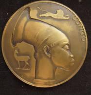 M01071 Congo, Tête De Femme, Lion, Gazelle Par Rau, Mémoire Des Coloniaux De Salm C.A.A. Vielsalm (124 G.) - Belgique