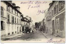95-ECOUEN-La Rue De Paris-animée-Précurseur-d Os Non Divisé - Ecouen