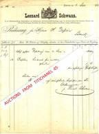 Rechnung 1873 - LEONARD SCHWANN - NEUSS - Buchdruckerei Und Buchbinderei, Hof-buchhandlung, Schreibmaterialien-handlu Ng - Imprimerie & Papeterie