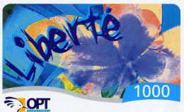 Telecarte De Nouvelle Caledonie Liberté 1000 Date Limite D´initialisation 31/12/2004 - Neukaledonien