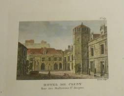 Paris. Hôtel De Cluny.  Début XIXe.  Aquarellée à La Main. - Stampe & Incisioni