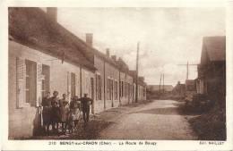 18 CHER  -  BENGY SUR CRAON  La Route De Baugy (cliché Tardif Inconnu Sur Delcampe) - Autres Communes