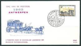 België - 1963 - Belgique. Zegel/timbre N° 1249 - 8 X FDC - Dag Van De Postzegel - Journée Du Timbre. A1. - FDC