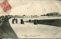 N°29159 -cpa Thème Moto -parc Des Prince -départ Des Entraîneurs- - Motos