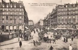 PARIS LA RUE SAINT-LAZARE CARREFOUR DE LA RUE DE ROME TRES ANIMEE 75006 - Arrondissement: 06