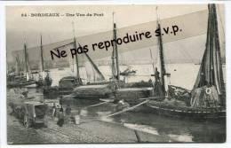 - 34 - BORDEAUX - Une Vue Du Port, Splendide, Barques Chargées De Joncs ?, Peu Courante, Non écrite, TBE, Scans. - Bordeaux