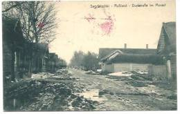 BELARUS (RUSSIA) WWI SENOWISCHKI 1916 DORFSTRASSE IN MORAST WITH GERMAN POSTMARKS - Belarus
