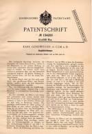 Original Patentschrift - K. Gossweiler In Ulm , 1901 , Gasglühlichtlampe , Lampe , Gas !!! - Lampen