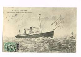 Bateau... LE HAVRE - Transatlantique Rentrant Au Port ...... - Koopvaardij