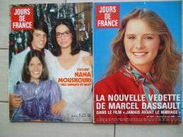 JOURS DE FRANCE N°1414, N° 1427 (nana Mouskouri Et Nouvelle Vedette De Dassault - People