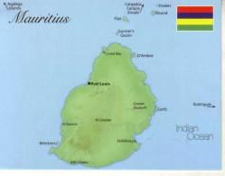 1 X Map & Flag - Carte Géographique Et Drapeau - Mauritius - Landkarten