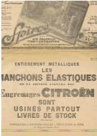 PUBLICITE LES MANCHONS ELASTIQUES Engrenages  CITROEN - Voitures