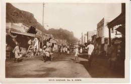 Aden Main Bazaar No. 2, Animated Street Scene Market, C1920s/30s Vintage Real Photo Postcard - Yemen