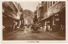 Aden, Tin Bazaar, Animated Street Scene Market, C1920s/30s Vintage Real Photo Postcard - Yemen