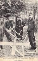 PRISONNIERS DE GUERRE FRANCAIS FAISANT TRAVAUX FORCES A WAHN ( Nordrhein) 1914/15  - CARTE ALLEMANDE  NR 3 - Weltkrieg 1914-18