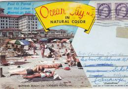 Ocean City, Special Postcard Including 12 Views Of Ocean City, New Jersey - Etats-Unis