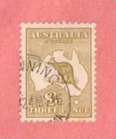 "AUS SC #47  1915 Kangaroo And Map  (""24MY16""), CV $9.50 - Used Stamps"