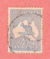 AUS SC #48  1915 Kangaroo And Map  W/slightly Toned Perf @ B, CV $17.50 - Used Stamps