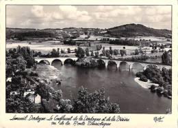 24] Dordogne-LIMEUIL-Le Confluent De La Dordogne Et De La Vézère Vu De La Route Touristique(1956) Etat =voir Description - France
