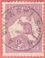 "AUS SC #50a  1915 Kangaroo And Map  W/SON (""SWANSEA TASMANIA""), CV $22.50 - Used Stamps"