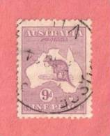 AUS SC #50a  1915 Kangaroo And Map, CV $22.50 - Used Stamps