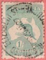 "AUS SC #51b  1916 Kangaroo And Map  W/SON (""REGISTERED / ELIZABETH ST / _OURNE / 10 JA 27""), CV $14.00 - 1913-48 Kangaroos"