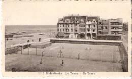 Middelkerke-Belgische Kust-1953-De Tennis (Leopoldlaan)-Court De Tennis -La Digue-Timbre Léopold III COB 845 (scan) - Middelkerke