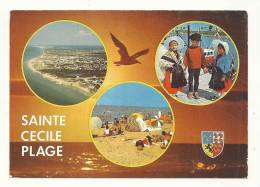 Cp, 62, Sainte-Cécile-Plage, Multi-Vues, Voyagée 1988 - Francia