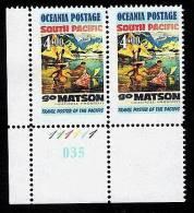 Oceania Postage Travel Posters Of The Pacific Corner Pair. - Nieuw-Zeeland
