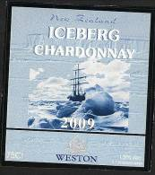 Iceberg Chardonnay Unused Wine Label With Polar Theme- Rare - Labels