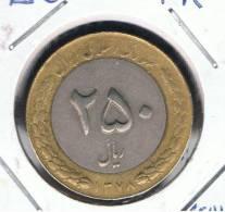 IRAN -  250  Rials   1378    KM1262 - BIMETAL - Irán