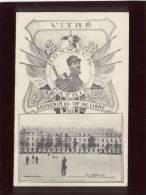 35 Vitré Souvenir Du 70e De Ligne édit. Artaud Nozais N° 1710 + Buste Militaire - Vitre