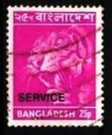 Bangladesch / Bangladesh: 'Tiger, Panthera Tigris, 1976 - Aufdruck Service - Overprinted' Oo - Roofkatten