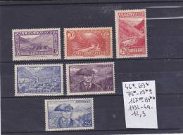 TIMBRE D ANDORRE NEUF N R 46*-69*-79*-118**-127**-134**- 1932-49 COTE 12.3€ - Neufs