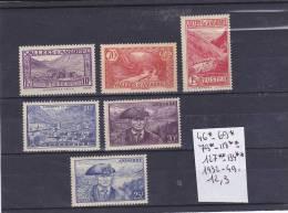TIMBRE D ANDORRE NEUF N R 46*-69*-79*-118**-127**-134**- 1932-49 COTE 12.3€ - Andorre Français