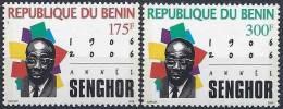 2006 BENIN 986-87 ** Senghor - Bénin – Dahomey (1960-...)