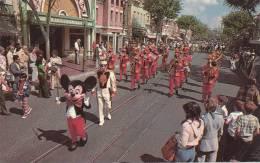 DISNEYLAND Band . Vintage Old Photo Postcard - Disneyland