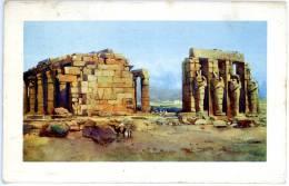 Thebes Ramasseum, Colosse Ramses II., Egypte, Gelaufen, Baronin Rokitanzky - Tempel Von Abu Simbel