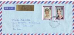 Env . De Surrey Vers Belgique 1998  Lady Di - 1952-.... (Elizabeth II)
