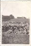 PETITE PHOTO D UNE COMPAGNIE DE MILITAIRES AU HAVRE LE 10 JUIN  1932 JE PENSE 129 IEME - Photos