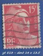 1948 - Europe - France - Marianne De Gandon - 15 F.  Rouge -