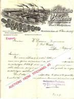 Brief 1907 - STUTTGART - Maschinenfabrik BADENIA, Vorm. Platz Söhne AG - Eisen-& Metallgiesserei - Machines Agricoles - Allemagne