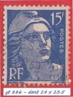 1951 - Europe - France - Marianne De Gandon - 15 F.  Outremer -
