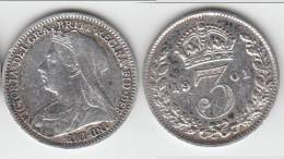 **** GRANDE-BRETAGNE - GREAT-BRITAIN - 3 PENCE 1901 VICTORIA - SILVER - ARGENT **** EN ACHAT IMMEDIAT !!! - F. 3 Pence