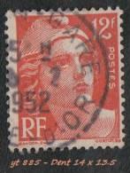1951 - Europe - France - Marianne De Gandon - 12 F.  Orange -