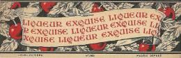 Etiquette Bouteille Ref 003. Liqueur Exquise - Poitiers - Spirits