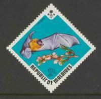 Maldives Malediven 1973 Mi 464 ** Pteropus Giganteus Ariel : Indian Flying Fox / Indische Riesenflughund / Vliegende Vos - Murciélagos