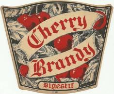 Etiquette Bouteille Ref 005. Cherry Brandy - Digestif - Autres Bouteilles